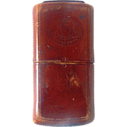 Mason Co Leather Cigarillo or Cigarette Case with Great Patina