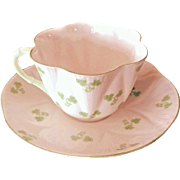 Shelley Dainty Shamrock Cup and Saucer