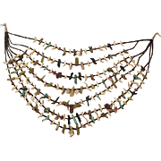 7 strand indian fetish necklace, 187 carved pieces