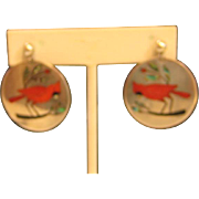 Indian Made, earring, signed by SC Edaakie