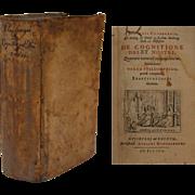 "SALE 17th Century German Philosophy First Edition Book ""De Cognitione Dei et Nostri"""