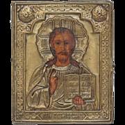 SALE Antique Russian Icon depicting Jesus Christ , 19th century