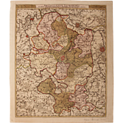 SALE 17th Century Antique map of Brussels and the surrounding Area - Belgium - by Visscher N .