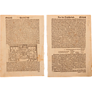 16th Century Woodcut of Ottokar II of Bohemia & German King Election - Book page of ...