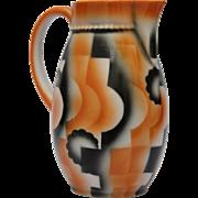 1920's Art Deco Hot Chocolate Pitcher Leuchtenburg Miranda - Tea Pot with Spray Decorations