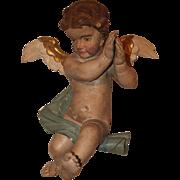 SALE 17th Century Putti / Angel / Cherub Baroque Statue from Northern Europe - Polychrome Wood