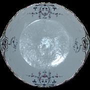 KPM (Krister) Porcelain Art Nouveau / Art Deco Ceremonial Plate - Handpainted with Gilt 1904 .