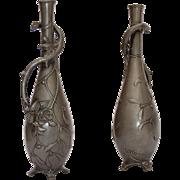 SALE Antique Art Nouveau W. Hering Pewter Vase