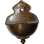 19th Century Baroque Style Holy Water Font - Bronze Stoup from Continental Europe