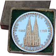 SOLD Original 1928 Mint .900 Silver Medal of the Cologne Cathedral
