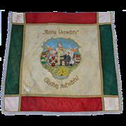 "SALE 1910's Large Hand Embroidered Flag of  ""Schützenverein"" Vigilante Fraternity f"