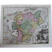 SALE Rare antique Map of East Frisia / Friesland (Allard, Carel: circa 1697)