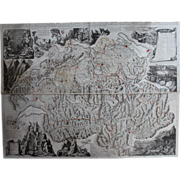 SALE Rare huge antique Map of Switzerland (SCHEUCHZER, Johann Jakob 1712)