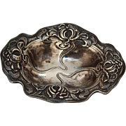 SALE Art Nouveau Small Sterling Silver Dish / Jewelry or Sweets Bowl