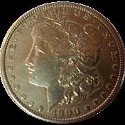 SOLD 1900 Morgan Dollar ~ Extra Fine Silver Dollar