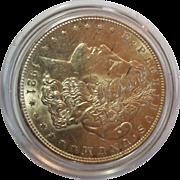 SOLD 1921 MORGAN Silver Dollar Brilliant  Nice White Luster