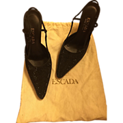 Vintage ESCADA Italian Vero Cuoio Evening Shoes