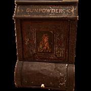 19th Century Antique Gunpowder Display Tea Tin