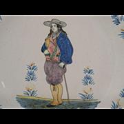 Rare Pair 19th century Henriot Quimper Plates c.1889