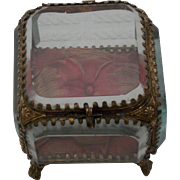 19th Century French Glass Casket/ Trinket Box C.1870