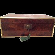 Superb English Burr Walnut Writing Slope/ Box C.1820