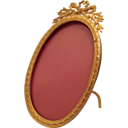 Antique French Oval Ormolu Photo Frame C.1890