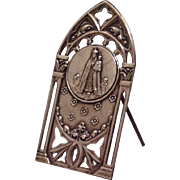 French Antique Altar Ornament/Icon. Virgin Mary/Child Jesus C.1900.