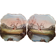 Pair French Fairyland Plaques. C. 1900