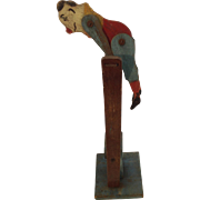 Traditional Articulated, Wooden Circus Clown / Acrobat Toy. C.1920s