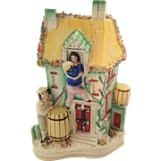 Early Victorian Staffordshire Cottage Flat Back, Lovers Figure. Humorous Subject.