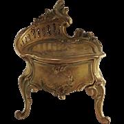 Stunning, Quality French Bronze Trinket Casket. Napoleon III.