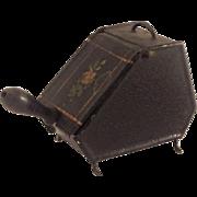 Miniature,Tin Plate Coal Box and Shovel for Doll House. C.1900