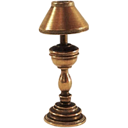 Nice Old Brass DollHouse Table Lamp. C.1920