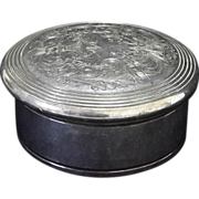 Derby Silver company Jewelry Box Silver Plated etched