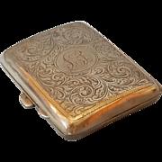 Birmingham Art Nouveau 1917 Sterling Silver cigarette box