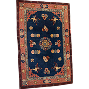 6.4' x 10' ( 196cm x 305cm )  hand made vintage Art Deco style Chinese rug ...