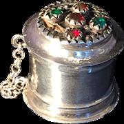 SALE Antique solid silver box. Karlskrona, Sweden 1854.