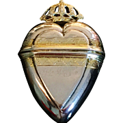 SALE Excellent Solid Silver Vinaigrette. Hallmarked 1740, Nicolai Martin Fuchs, Copenhagen