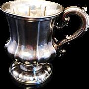 SALE Solid Silver Christening Mug Tankard London 1838. Superb.