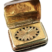 SALE William Boot, Birmingham 1824 Solid Sterling Vinaigrette. Excellent.