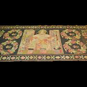 SALE Antique LARGE  Bessarabian, Flat weave Kilim religious leader 5'2 x 13'10 Free ...