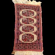 "SALE 1970's Pakistani Bokara rug 1'0"" x 2'0"" Free shipping & appraisal"
