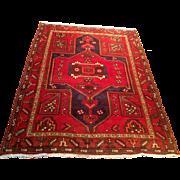 "SALE Semi-Antique Persian Hamedan rug 4'5"" x 6'3"" Free shipping & appraisal"
