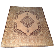 "SALE 1920's Persian Tabriz rug 4'0"" x 5'0"" Free shipping & appraisal"