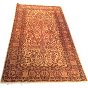 "SALE 1960's Turkish Sivas rug 3'8"" x 6'7"" Free shipping & appraisal"
