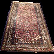 "SALE 1920's Persian Hamedan rug 3'7"" x 6'5"" Free shipping & appraisal"