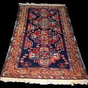 "SALE 1960's Persian Karajeh rug 3'5"" x 6'0"" Free shipping & appraisal"