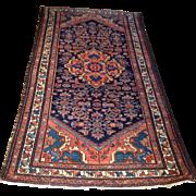 "SALE Antique Persian Hamedan rug 3'6"" x 6'8"" Free shipping & appraisal"