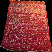 "SALE 1960's Persian Kilim rug 2'7"" x 3'7"" Free shipping & appraisal"