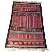 "SALE 1960's Persian Kilim rug 2'2"" x 3'5"" Free shipping & appraisal"